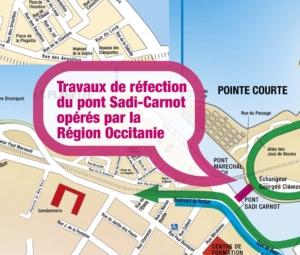 Informations sur l'accès Est de Sète