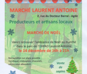 MARCHE DE FIN D'ANNEE A LAURENT ANTOINE