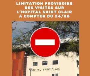 Limitation provisoire des visites à l'hôpital